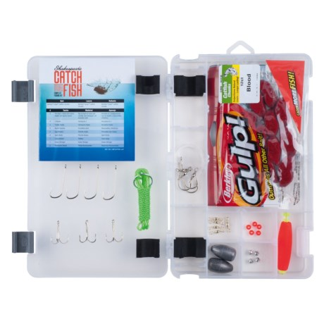 Shakespeare Catch More Fish Catfish Tackle Box Kit in See Photo