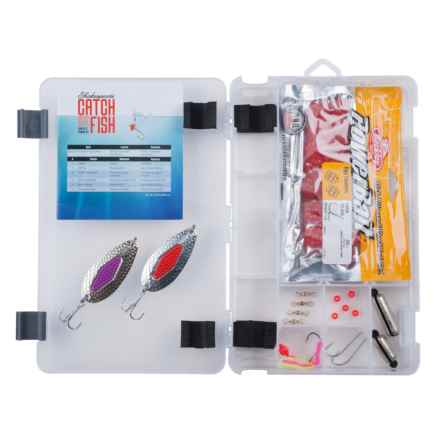 Shakespeare Catch More Fish Salmon Tackle Box Kit in See Photo - Closeouts