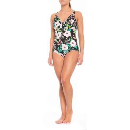 45264eb49d Shape Solver Glam Squad Empire One-Piece Swimsuit (For Women) in Black -