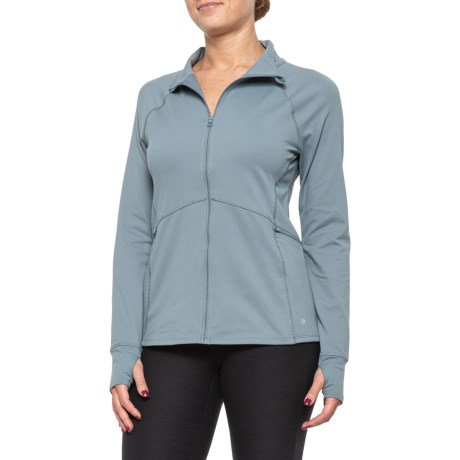 Shape Up Jacket - Full Zip (For Women) - SMOKEY GREEN (XS )