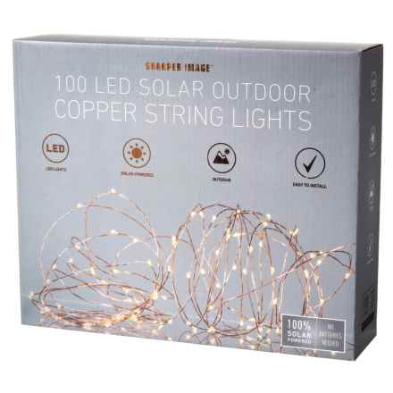 Sharper Image 100-LED Solar Outdoor Copper String Lights in See Photo - Closeouts