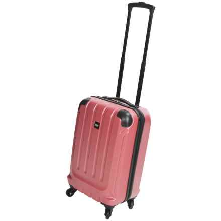 "Sharper Image Fiber Lite Spinner Suitcase - 20"" in Red - Closeouts"