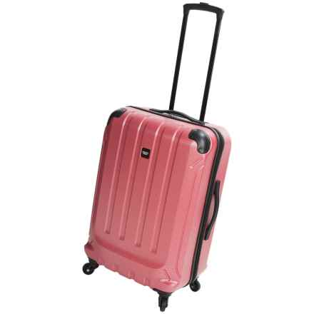 "Sharper Image Fiber Lite Spinner Suitcase - 24"" in Red - Closeouts"