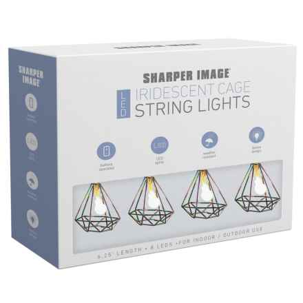 Sharper Image Iridescent Geometric Cage String Lights - 6.25' in See Photo - Closeouts
