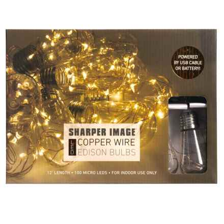 Sharper Image LED Copper Wire Edison Bulb Lights in See Photo - Closeouts