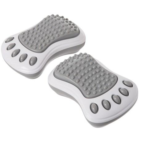 Sharper Image Massage-to-Go Mini Foot Massager - Set of 2 in Grey