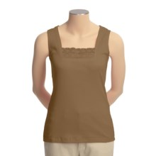 Shaver Lake Crocket Lace Trim Tank Top (For Women) in Brown - Closeouts
