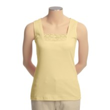 Shaver Lake Crocket Lace Trim Tank Top (For Women) in Yellow - Closeouts