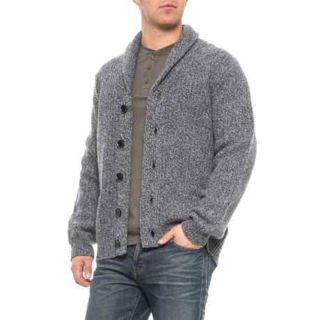 Image of Shawl Collar Cardigan Sweater - Wool (For Men)