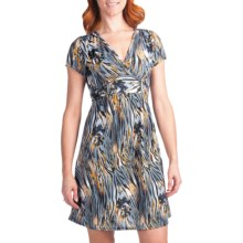 She's Cool Ity Tie Back Dress - Short Sleeve (For Women) in 8670 Grey - Closeouts
