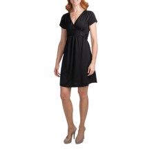 She's Cool Ity Tie Back Dress - Short Sleeve (For Women) in Black - Closeouts