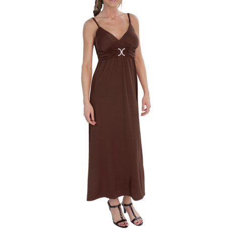 She's Cool Luxury ITY Maxi Dress - Sleeveless (For Women) in Brown