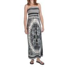 She's Cool Maxi ITY Knit Dress - Strapless (For Women) in Black/Grey - Closeouts
