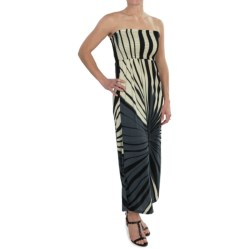 She's Cool Maxi ITY Knit Dress - Strapless (For Women) in Black/Grey