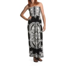 She's Cool Maxi ITY Knit Dress - Strapless (For Women) in Black/White - Closeouts