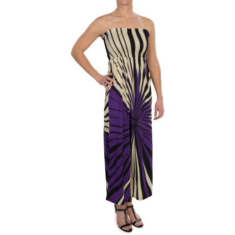 She's Cool Maxi ITY Knit Dress - Strapless (For Women) in Purple