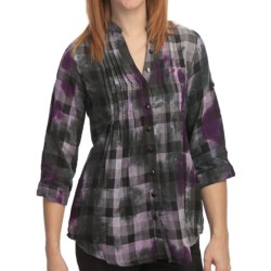 She's Cool Side Tie Tunic Shirt - Cotton, 3/4 Sleeve (For Women) in Red
