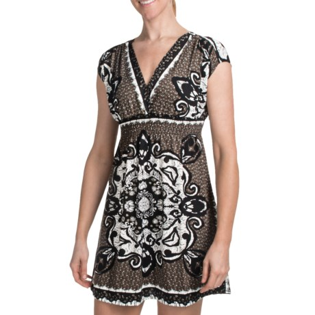 She's Cool Surplice Neck ITY Knit Dress (For Women)