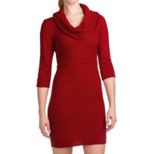 She's Cool Sweater Dress - Cowl Neck, 3/4 Sleeve (For Women) in Red - Closeouts