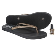 S.H.E. Glitter Sandals - Flip-Flops (For Girls) in Bronze - Closeouts