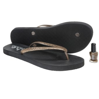 S.H.E. Glitter Sandals - Flip-Flops (For Girls) in Bronze