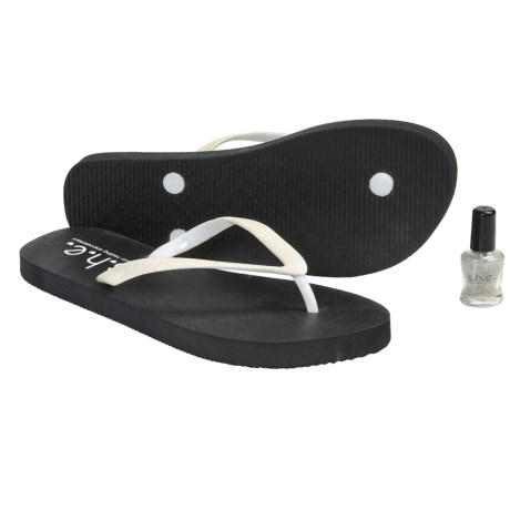 S.H.E. Glitter Sandals - Flip-Flops (For Girls) in White