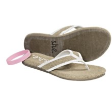 S.H.E. Hemp Sandals - Flip-Flops (For Women) in White - Closeouts