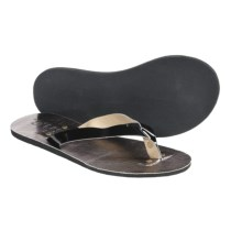 S.H.E. Metallic Sandals - Flip-Flops (For Women) in Black - Closeouts