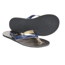 S.H.E. Metallic Sandals - Flip-Flops (For Women) in Blue - Closeouts