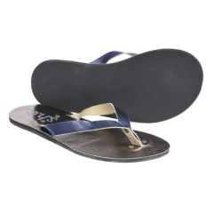 S.H.E. Metallic Sandals - Flip-Flops (For Women) in Pewter