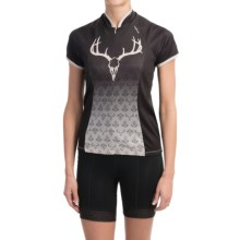 Shebeest Bellissima Cycling Jersey - UPF 45+, Short Sleeve (For Women) in Endeering Black - Closeouts