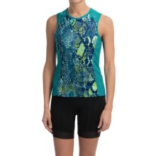 Shebeest Bellissima Cycling Jersey - UPF 45+, Sleeveless (For Women) in Python Aquamarine - Closeouts
