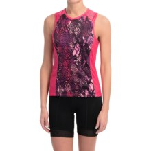 Shebeest Bellissima Cycling Jersey - UPF 45+, Sleeveless (For Women) in Python Watermelon - Closeouts