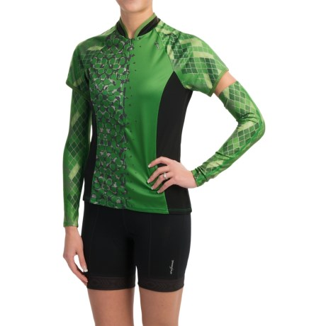 Shebeest Bellissima Cycling Jersey with Arm Warmers Short Sleeve (For Women)