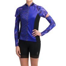 Shebeest Bellissima Cycling Jersey with Arm Warmers - Short Sleeve (For Women) in Sapphire - Closeouts