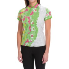 Shebeest Bellissima Monarch Cycling Jersey - UPF 45+, Zip Neck, Short Sleeve (For Women) in Keylime - Closeouts