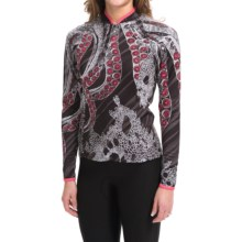 Shebeest Bellissima Octopus Cycling Jersey - UPF 45+, Long Sleeve (For Women) in Black - Closeouts