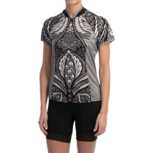 Shebeest Bellissima Santosa Cycling Jersey - UPF 45, Short Sleeve (For Women) in Black - Closeouts