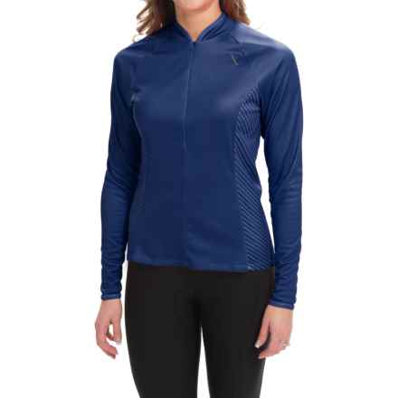 Shebeest Bellissima Solid Cycling Jersey - UPF 45+, Long Sleeve (For Women) in Cobalt - Closeouts