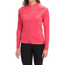 Shebeest Bellissima Solid Cycling Jersey - UPF 45+, Long Sleeve (For Women) in Watermelon - Closeouts