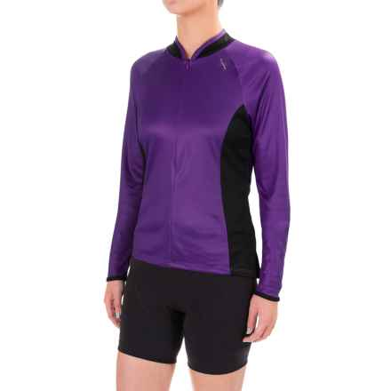 Shebeest Bellissima Solid Jersey Shirt - Long Sleeve (For Women) in Eggplant - Closeouts