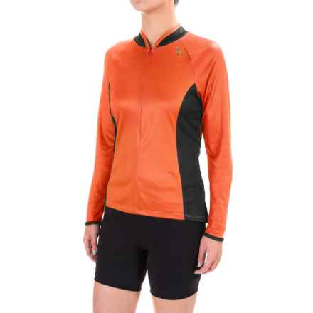 Shebeest Bellissima Solid Jersey Shirt - Long Sleeve (For Women) in Mandarin - Closeouts