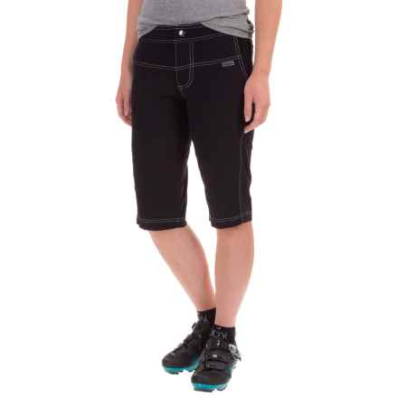 Shebeest Bermuda Commuta Bike Shorts - Removable Liner Shorts (For Women) in Black - Closeouts