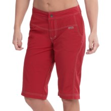Shebeest Bermuda Commuta Cycling Shorts - Removable Liner Shorts (For Women) in Hot Tomato - Closeouts