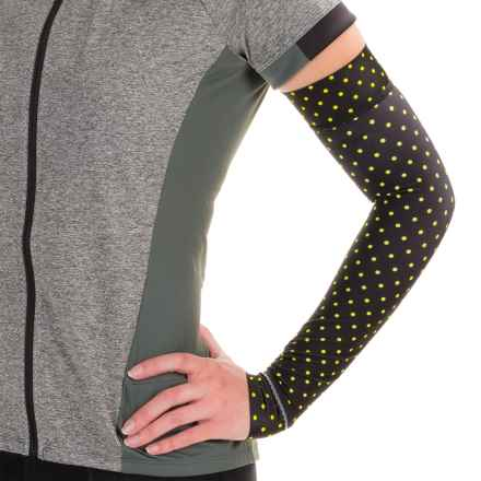 Shebeest Brave Arm Warmers (For Women) in Polka Mania Spry - Closeouts