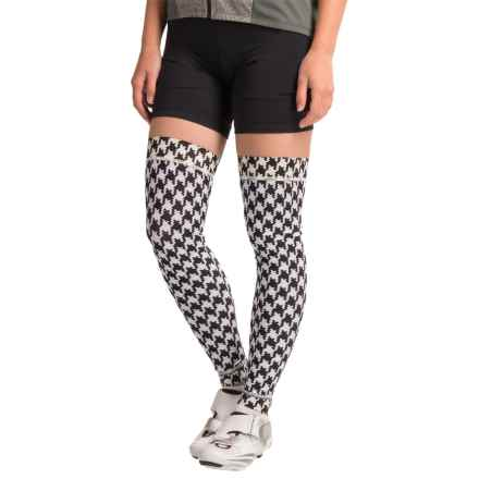 Shebeest Brave Leg Warmers (For Women) in Houndstooth Black - Closeouts