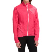 Shebeest Cascade Wind Shell Cycling Jacket - UPF 45+ (For Women) in Watermelon - Closeouts