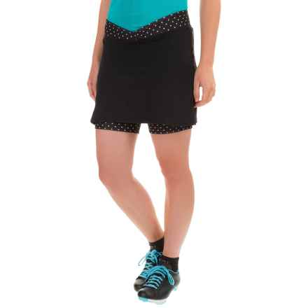 Shebeest Cycling SB Cycloskort (For Women) in Polka Mania Black - Closeouts