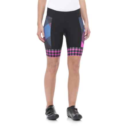 Shebeest Daisy Bike Shorts (For Women) in Tri Large Gingham Boys And Berries - Closeouts