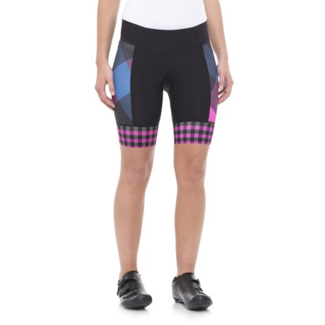Shebeest Daisy Bike Shorts (For Women) in Tri Large Gingham Boys And Berries